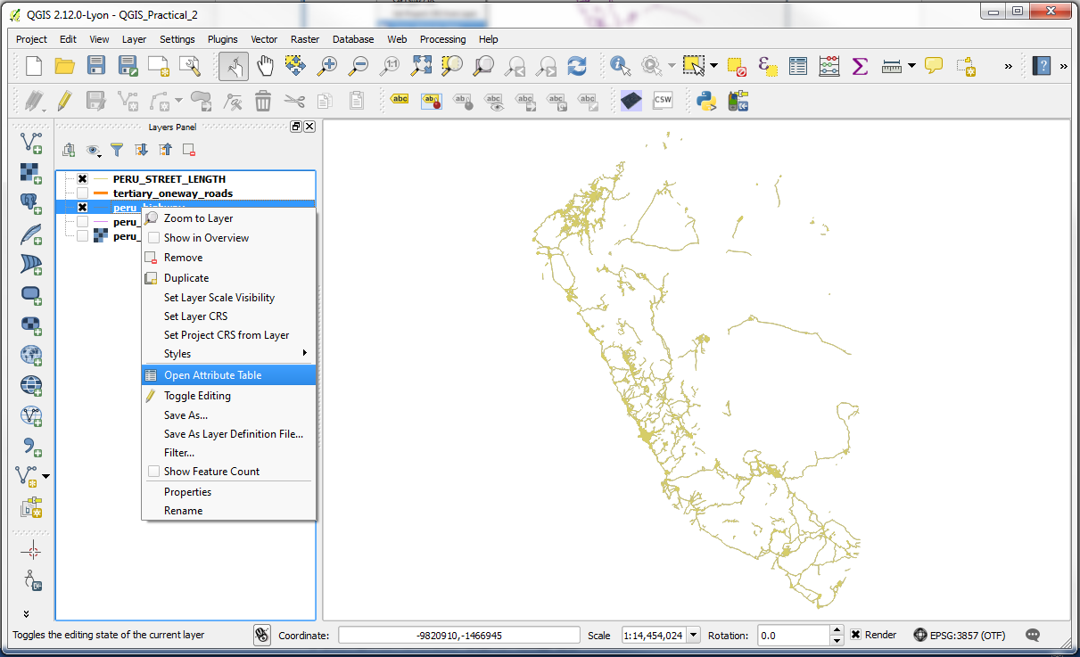 QGIS – Practical 2 – Page 3 – GIS Lessons for You