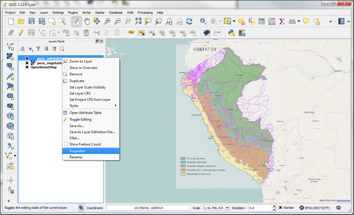 Qgis practical 2 gis lessons for you in the properties dialog click on the metadata tab you will see the projection definition of the layer under layer spatial reference system gumiabroncs Gallery